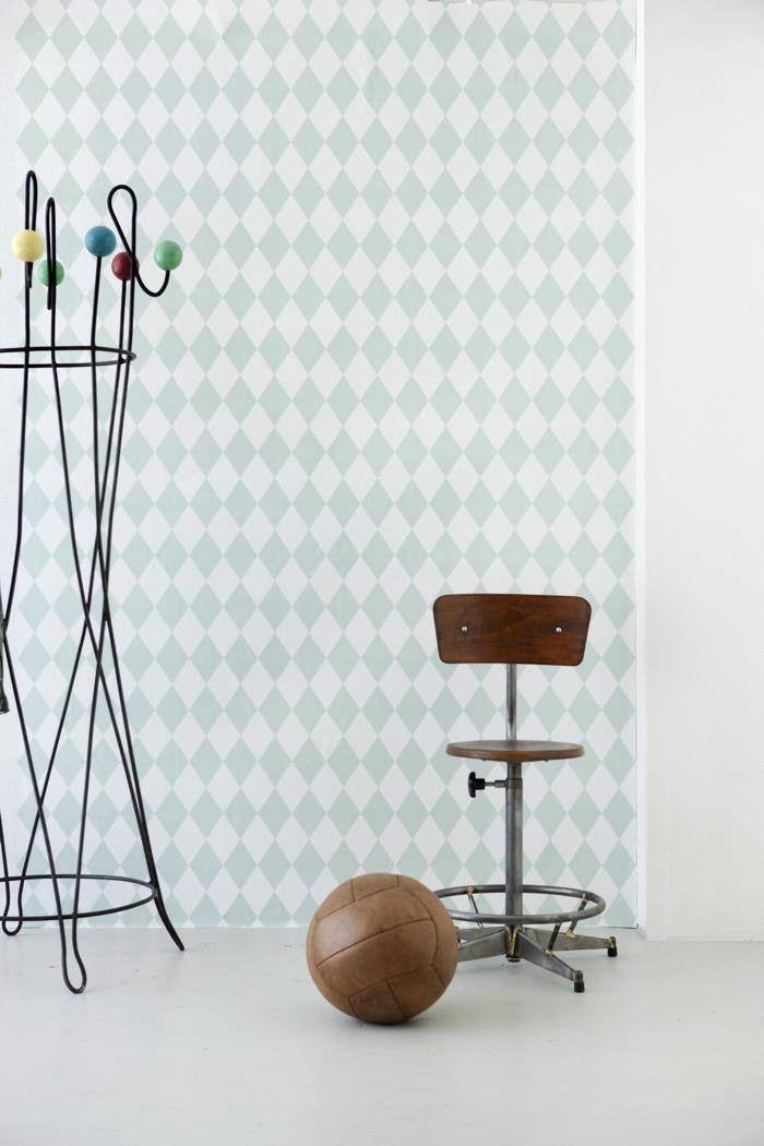 Ferm Living Ferm Living Harlequin Wallpaper - fawn&forest