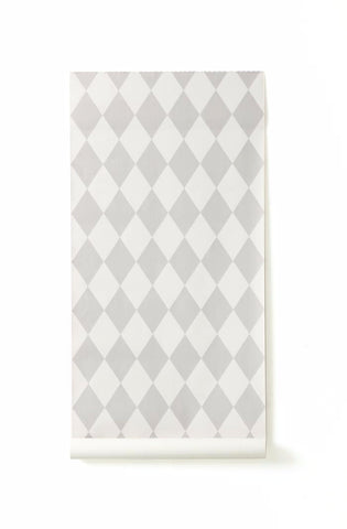 Ferm Living Harlequin Wallpaper - Grey/Light Grey