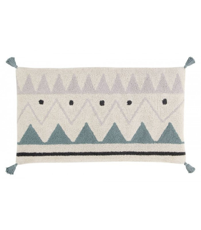 Lorena Canals Sleepover Pouf Azteca Natural - Vintage Blue