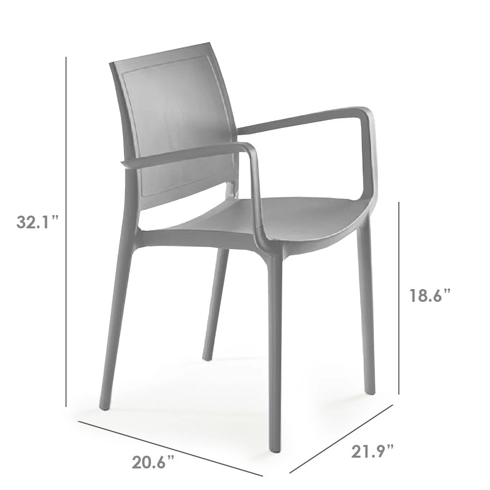 P'kolino Luna Modern Chair w/ Arms - Grey