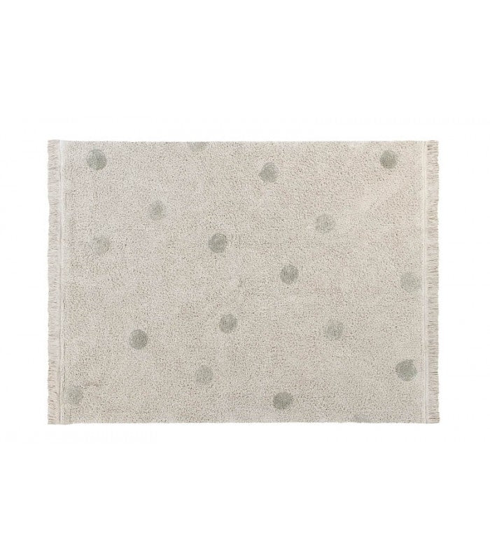 Lorena Canals Washable Rug Hippy Dots Natural