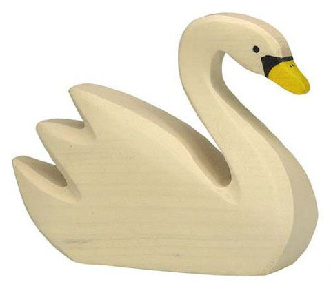 Wooden Swimming Swan