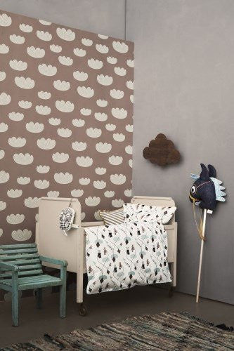 Ferm Living Ferm Living Cloud Wallpaper - fawn&forest