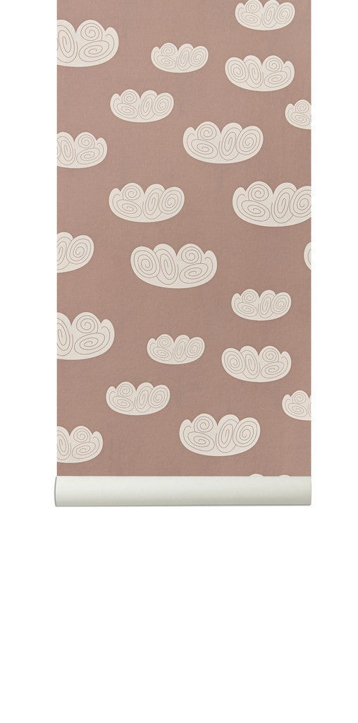 Ferm Living Cloud Wallpaper- Mint