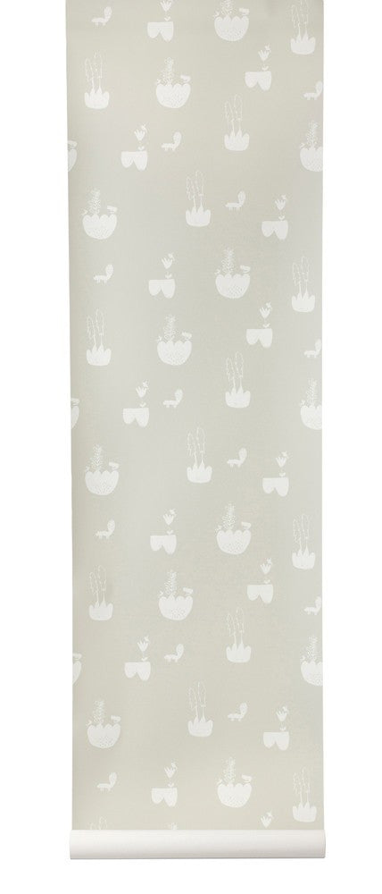 Ferm Living Ferm Living Landscape Wallpaper - fawn&forest