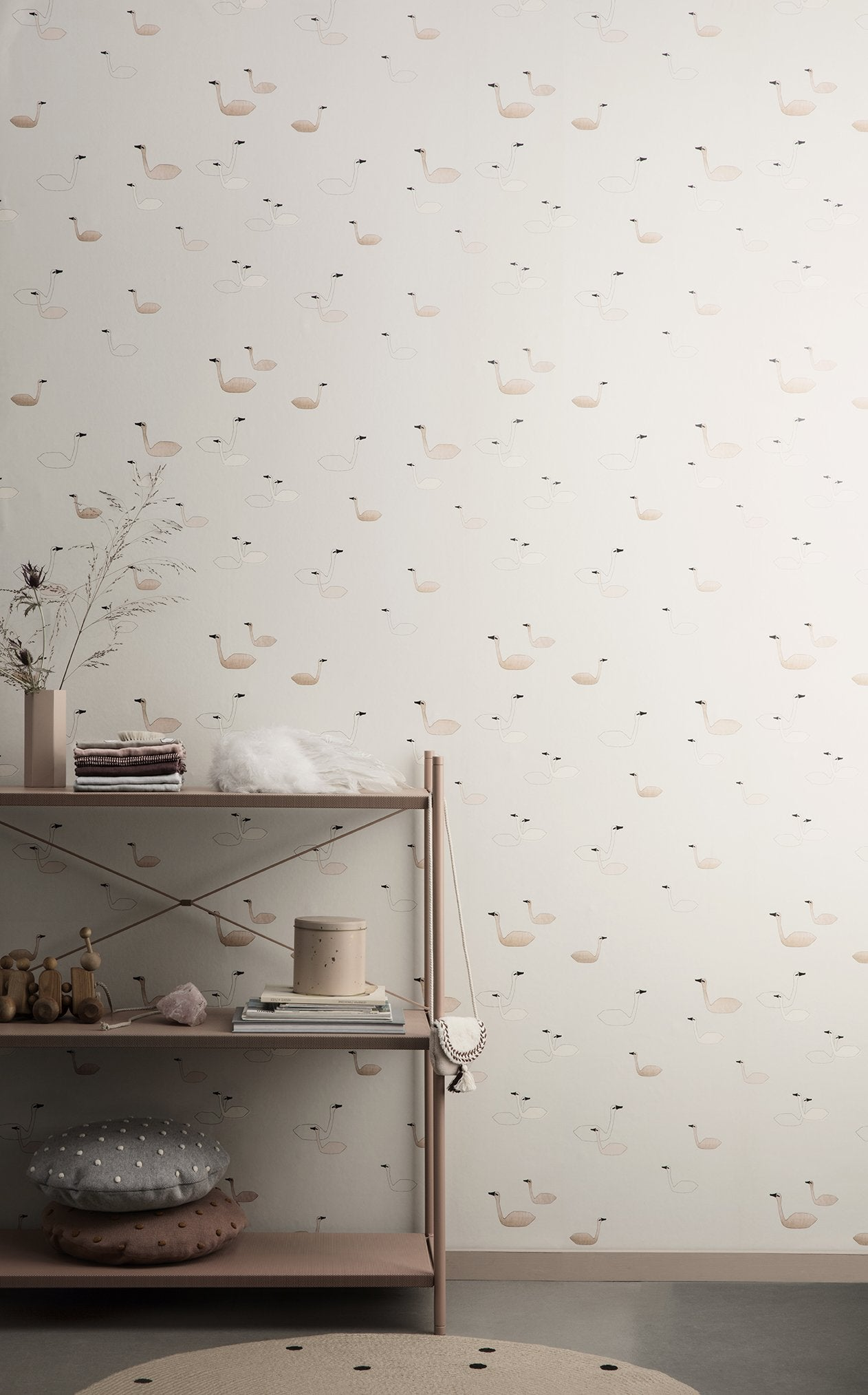 Ferm Living Swan Wallpaper