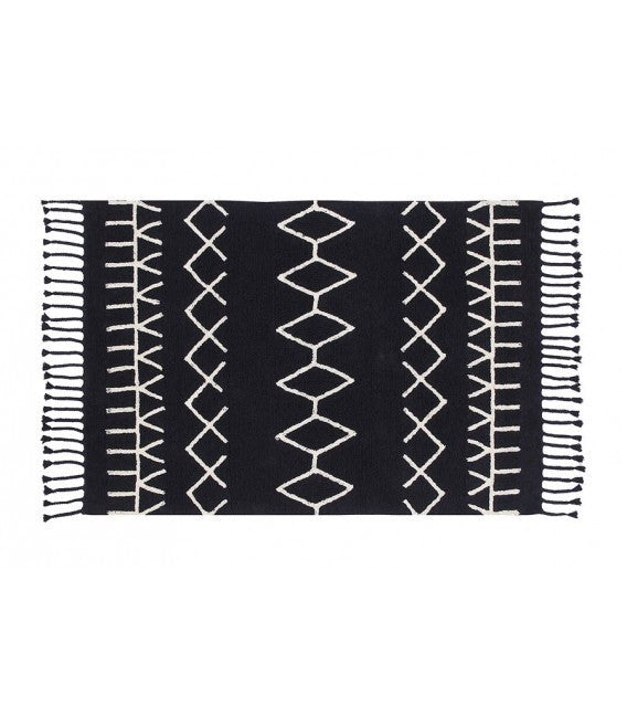 Lorena Canels Bereber Black Rug - fawn&forest