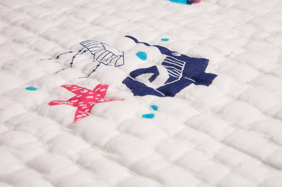 Nursery Works Oceanography Organic Hand Quilted Blanket