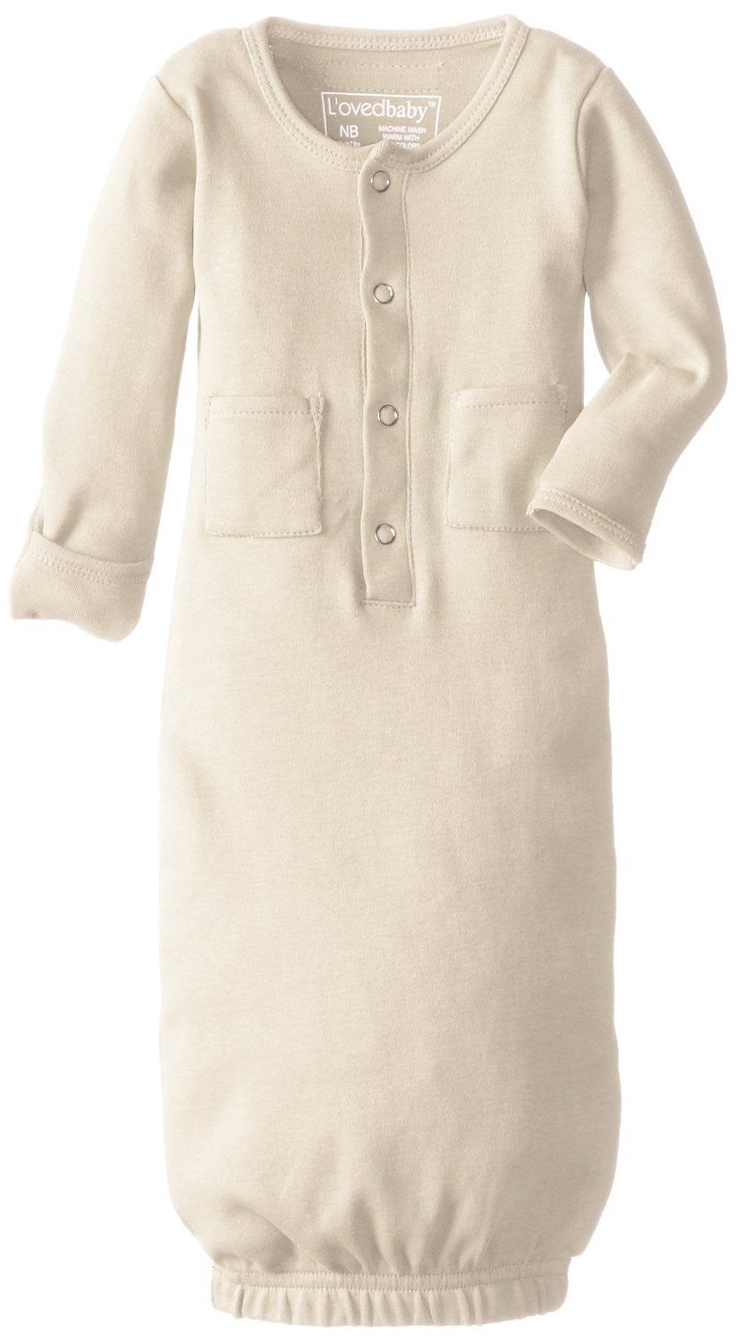 Organic Sleeping Gown - Beige
