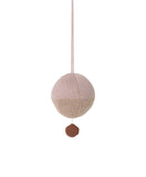 Ferm Living Kids Knitted Ball Music Mobile - Rose