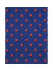 Ferm Living Kids Double Dot Blanket - Blue