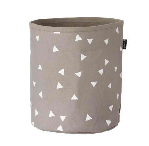 Ferm Living White Triangle Basket