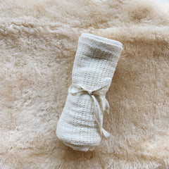 Natural Cotton Baby Blanket - Cream