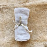 Natural Cotton Baby Blanket - Snow