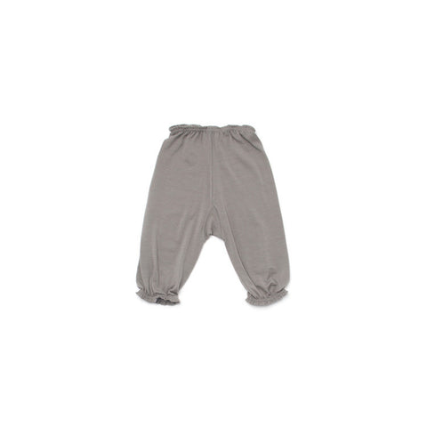 Merino Wool Baby Capris - Soft Grey