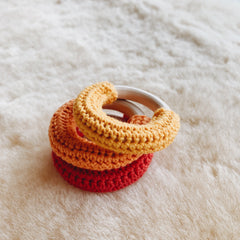 fawn&forest Mini Crochet Teether Set - Marigold