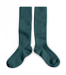 fawn&forest Collégien Fonds Marins Sea Green Knee High Socks - fawn&forest