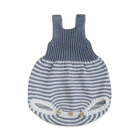 fawn&forest Hand Knit Lou Striped Romper - fawn&forest