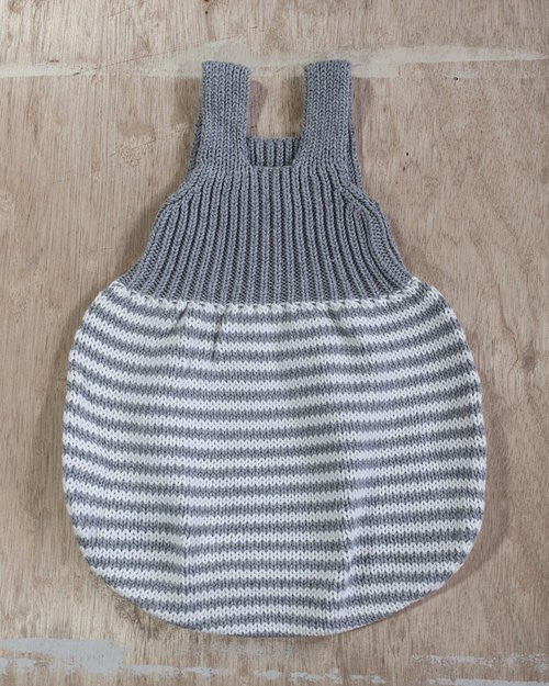 Hand Knit Lou Striped Romper