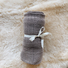 Natural Cotton Baby Blanket - Flax