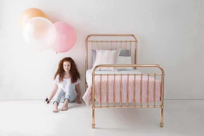 Incy Incy Metalic Metal Bed - fawn&forest