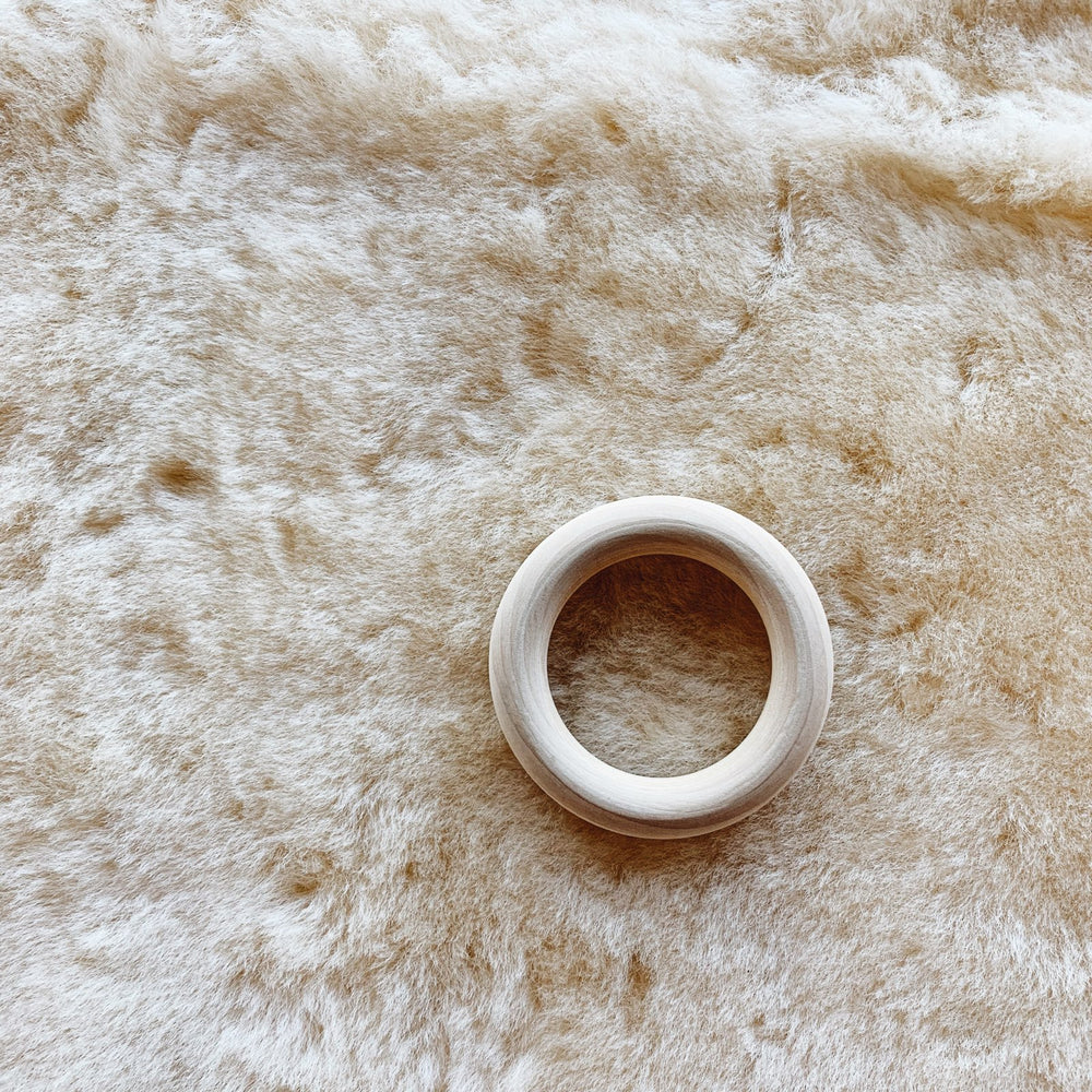 Wood Teether Ring