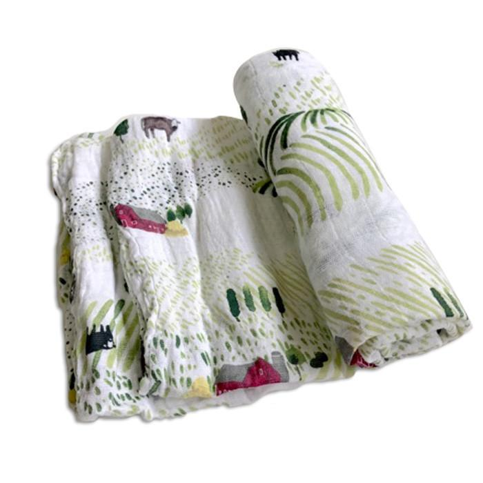 Little Unicorn Rolling Hills Swaddle Blanket