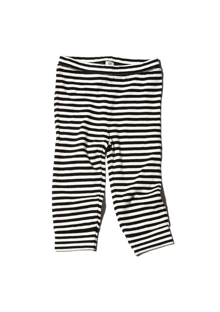 Goat-Milk Striped Baby Thermal Pants