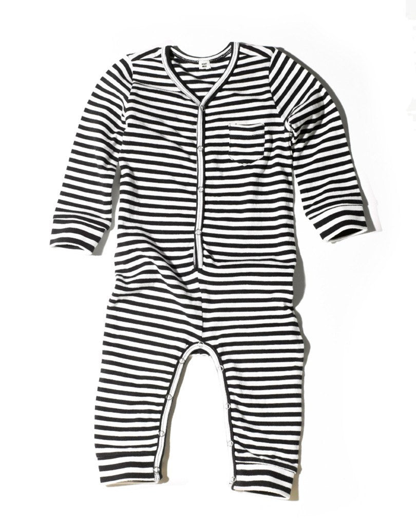 Goat-Milk Goat-Milk Striped Union Suit - fawn&forest