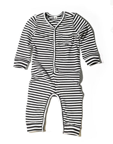 Goat-Milk Striped Union Suit