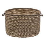 Colonial Mills Natural Wool Houndstooth Basket