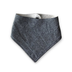 fawn&forest Charcoal Linen Bandana Bib - fawn&forest
