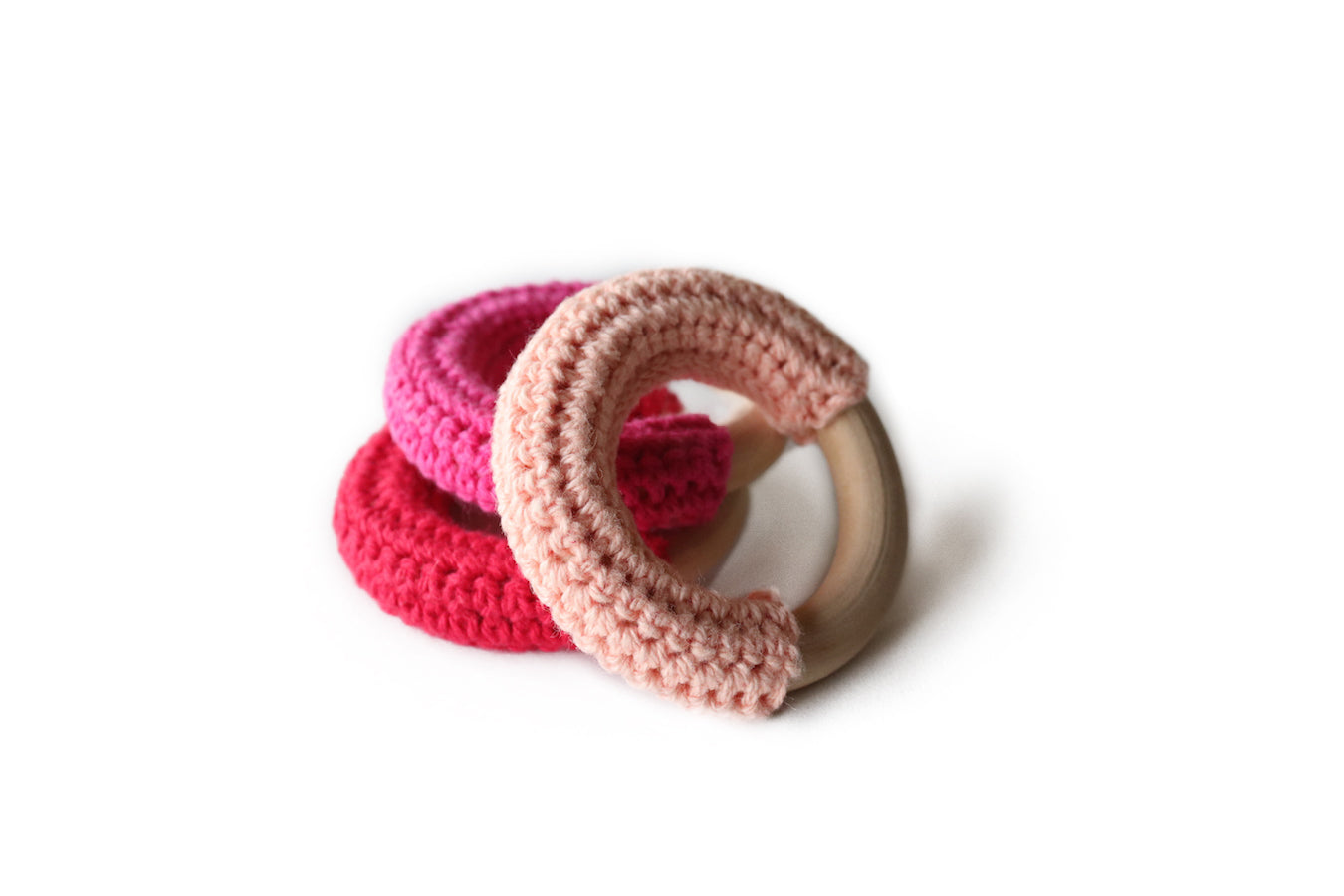 fawn&forest Mini Crochet Teether Set - Tulip Field