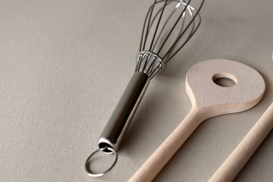 Wooden Spoon & Whisk Set