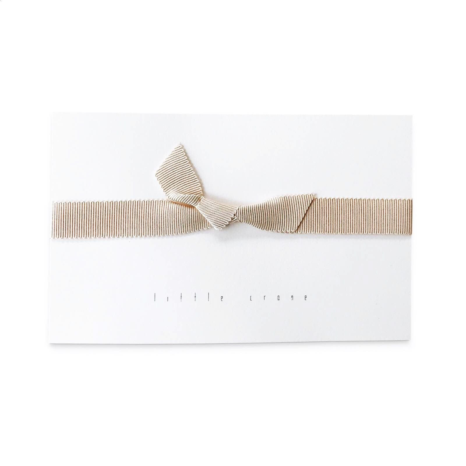 fawn&forest Little Crane Grosgrain Knot Headband - Cream - fawn&forest