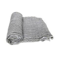 Little Unicorn Grey Stripe Swaddle Blanket