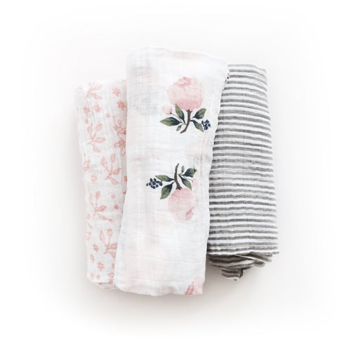 Little Unicorn Cotton Garden Rose Swaddle Set