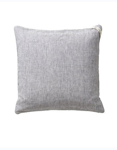 Fog Linen Linen Pillow Cover - Grey Stripe