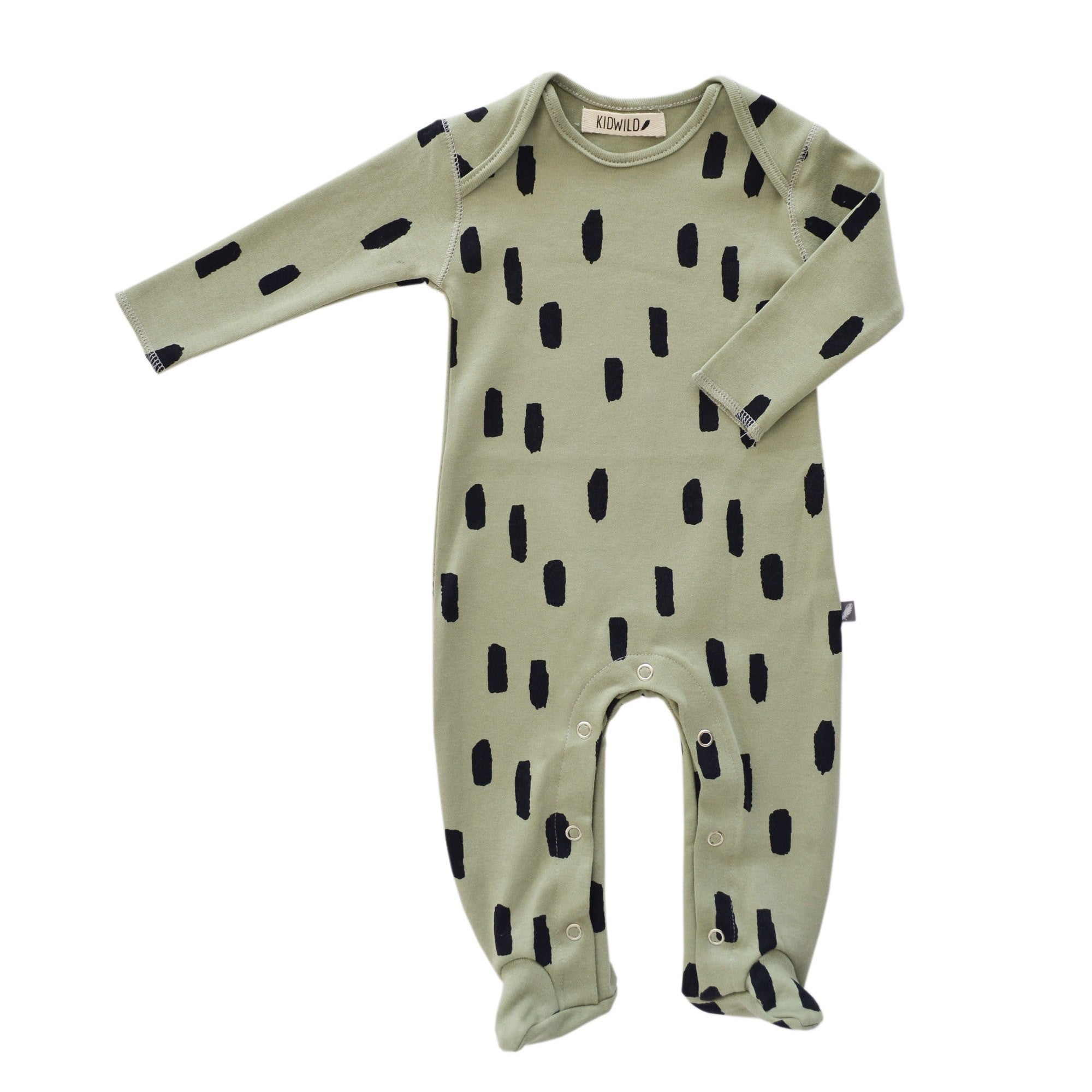 "Kidwild Organic ""Little Wild One"" Layette Gift Set - Spots Brown"
