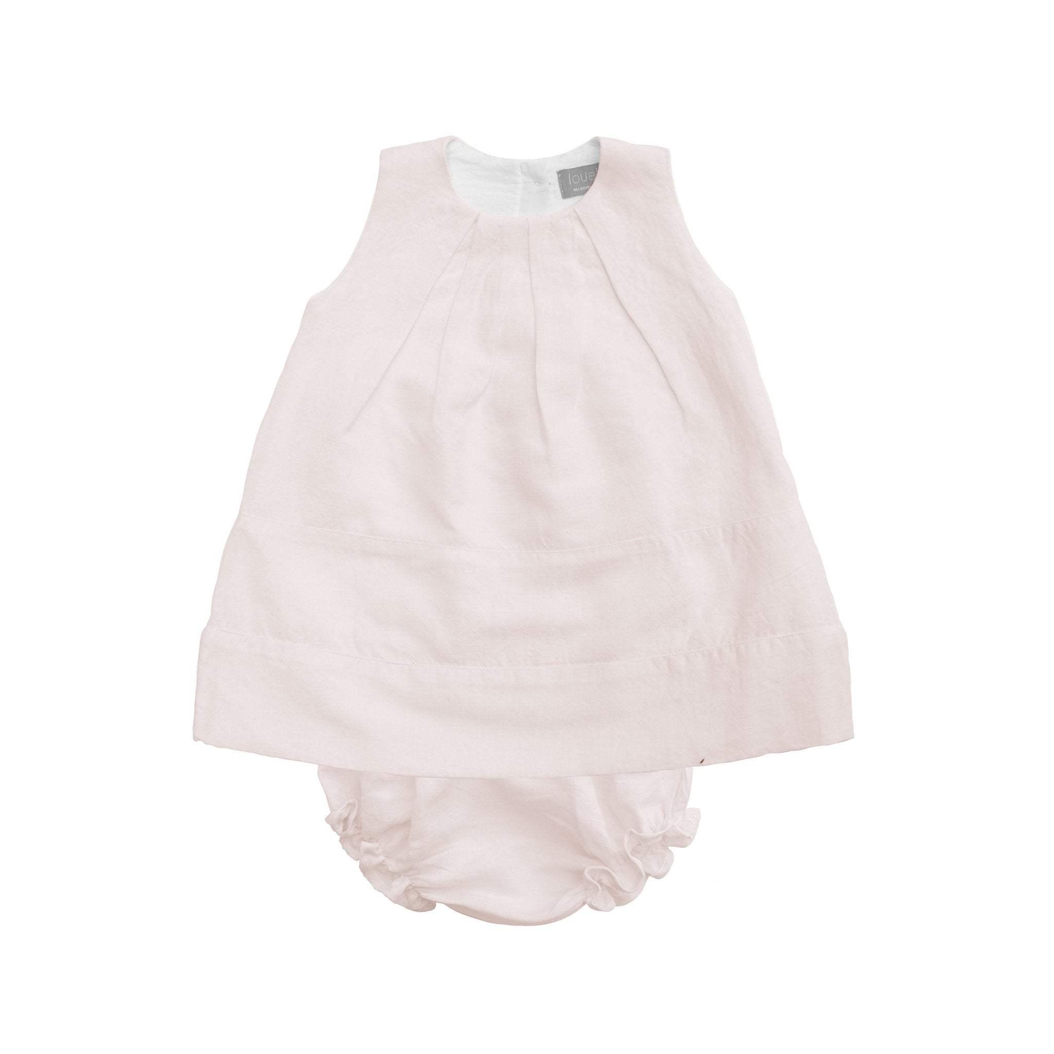 Louelle Linen Panel Dress & Bloomer Set