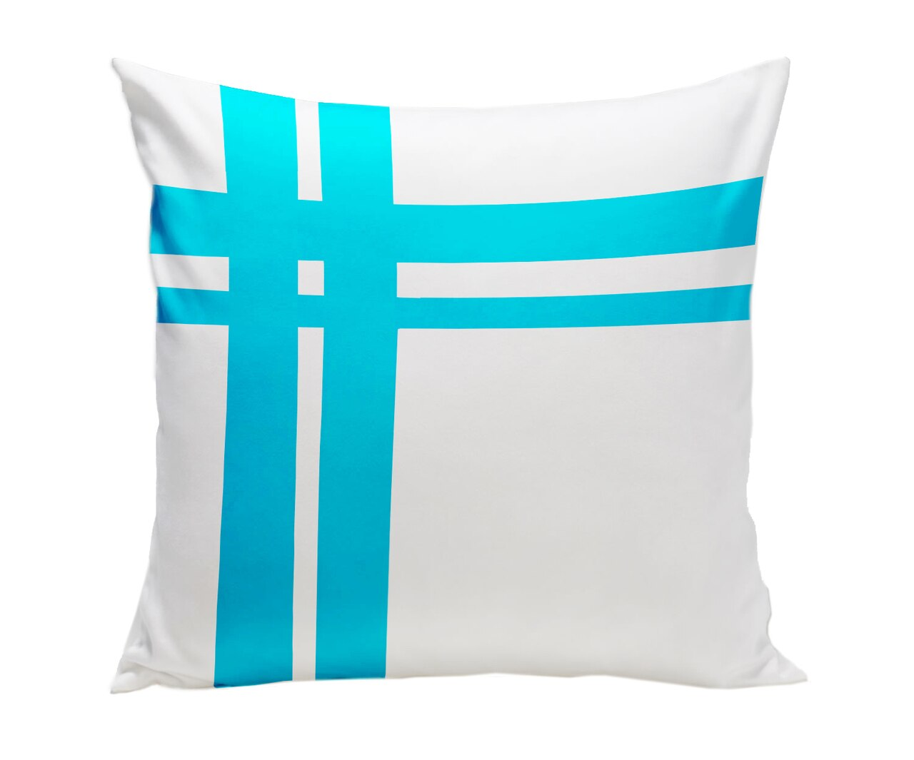 Spot On Square Hashtag Pillow - Blue