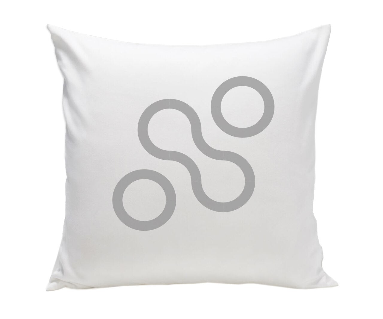 Spot On Square Join Pillow - Grey