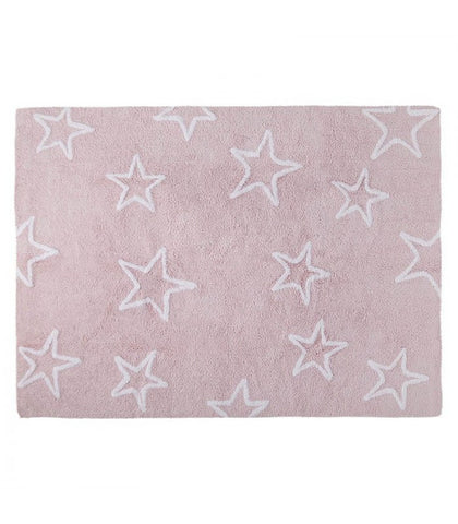 Silhouette Stars Rug - Pink