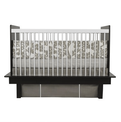 Oilo Modern Berries Taupe 3 Piece Crib Set