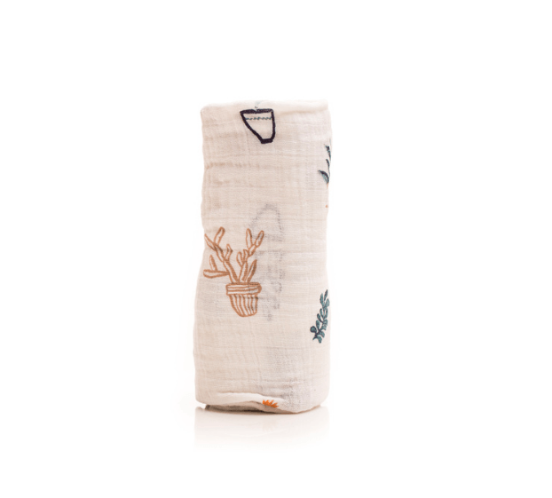 Little Unicorn Prickle Pots Swaddle Blanket