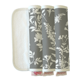 fawn&forest Peanut Shell Burp Cloths - Whisper - fawn&forest