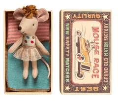 Maileg Maileg Little Sister Mouse in Box with Tutu - fawn&forest