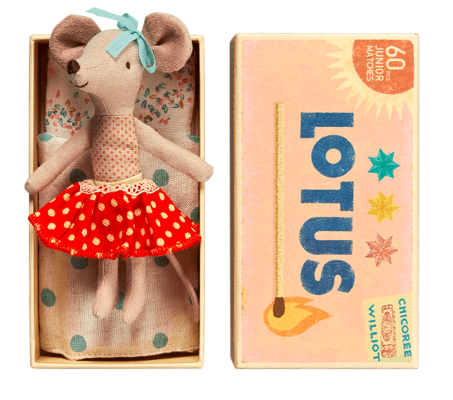 Maileg Maileg Big Sister Mouse in Box - fawn&forest