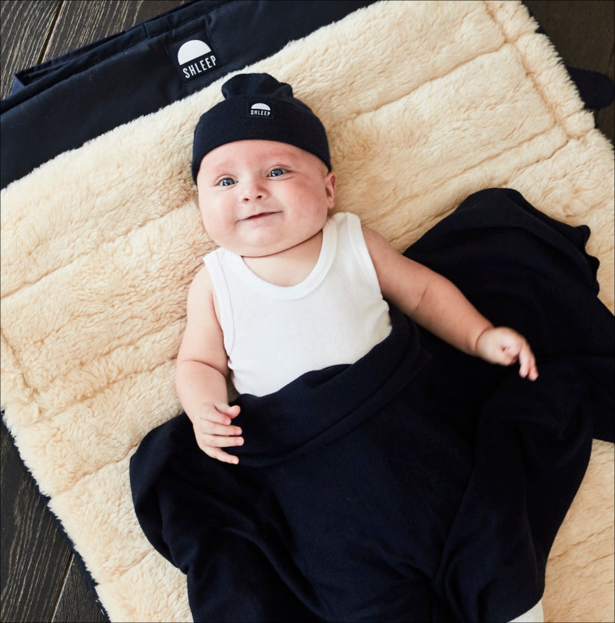Shleep Merino Silk Swaddle Set with Beanie