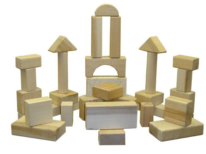Heirloom Hard Maple Block Sets - STANDARD 36 PC BLOCK SET